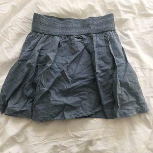Chambray Skater Skirt